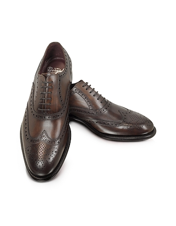 1940s Style Mens Shoes Cayenne - Brogued Wingtip Oxford $486.00 AT vintagedancer.com