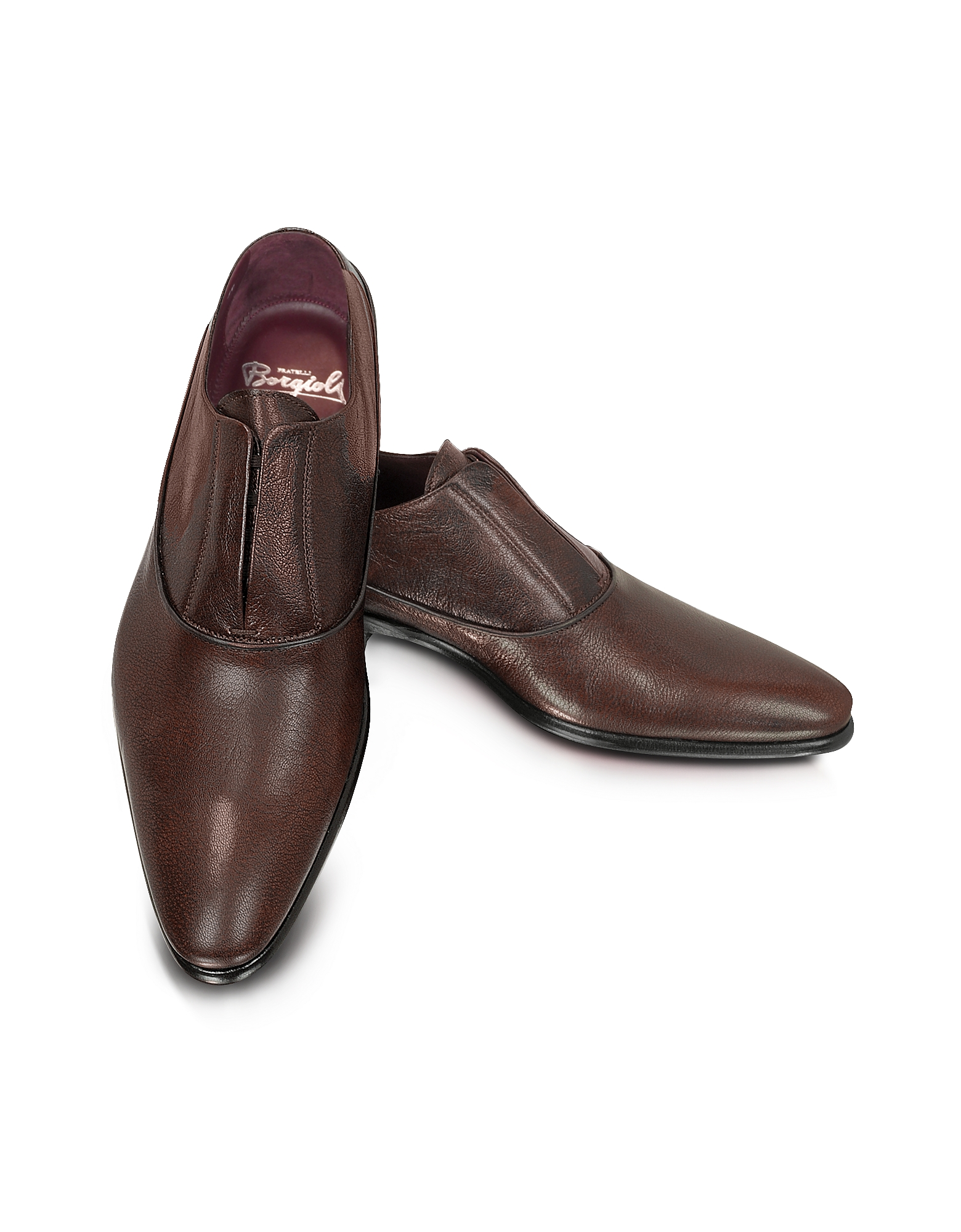 Fratelli Borgioli Shoes, Treno - Laceless Leather Oxford