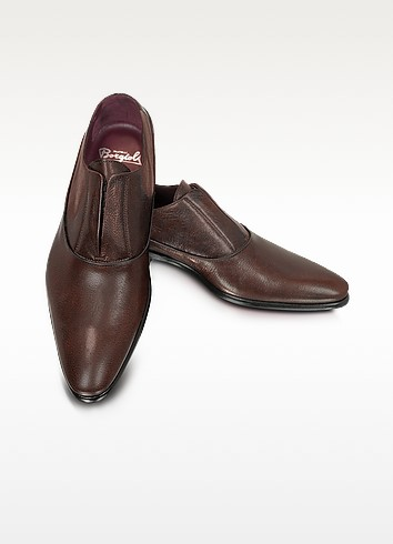 Treno - Laceless Leather Oxford - Fratelli Borgioli