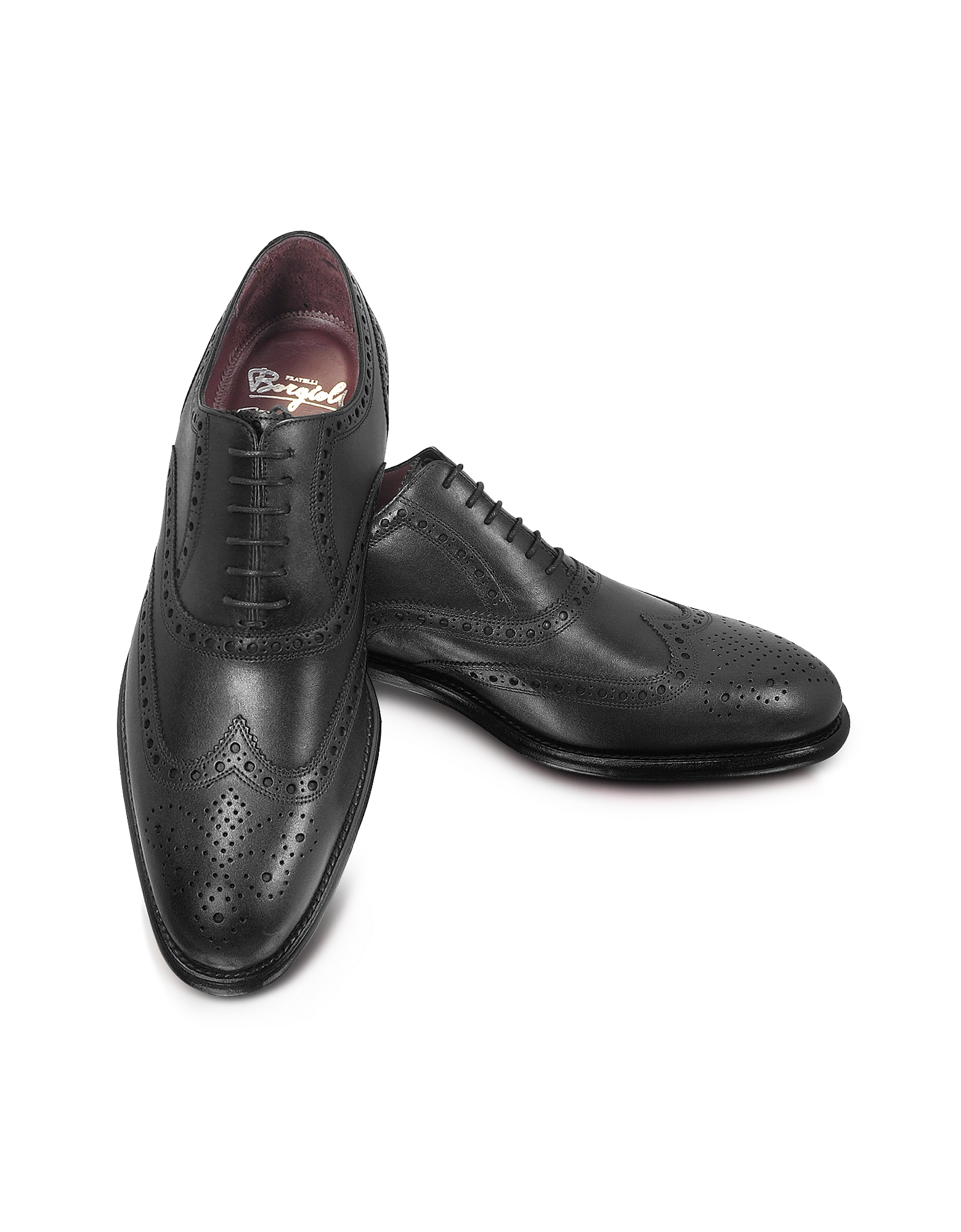 Fratelli Borgioli Shoes, Cayenne - Brogued Wingtip Oxford