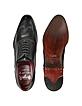 Handmade Black Italian Leather Wingtip Oxford Shoes  - Fratelli Borgioli