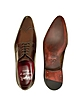 Handmade Brown Italian Leather Wingtip Dress Shoes  - Fratelli Borgioli