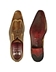 Handmade Light Brown Italian Leather Wingtip Dress Shoes  - Fratelli Borgioli