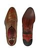 Handmade Brown Italian Leather Wingtip Oxford Shoes  - Fratelli Borgioli