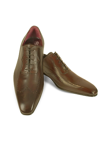Fratelli Borgioli - Handmade Brown Italian Leather Wingtip Dress Shoes