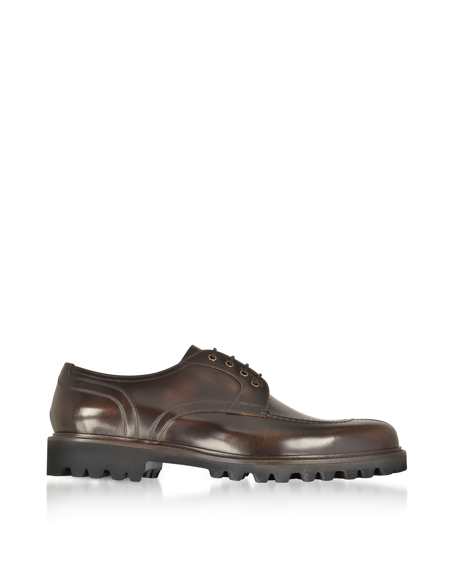 Fratelli Borgioli Designer Shoes, Walnut Leather Casual Derby Extralight Sole