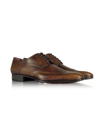 Miro - Dark Brown Wingtip Derby Shoes