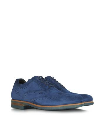 Pacific Blue Suede Oxford Shoe