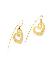 Ohrringe in Herzform aus vergoldetem Silber - Stefano Patriarchi