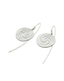 Silberne Ohrringe mit rundem Anhänger - Stefano Patriarchi
