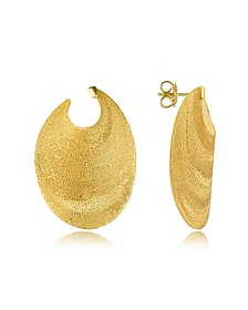 Ovale Ohrringe aus vergoldetem Silber - Stefano Patriarchi