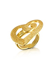 Herz-Ring aus Sterlingsilber in gold - Stefano Patriarchi