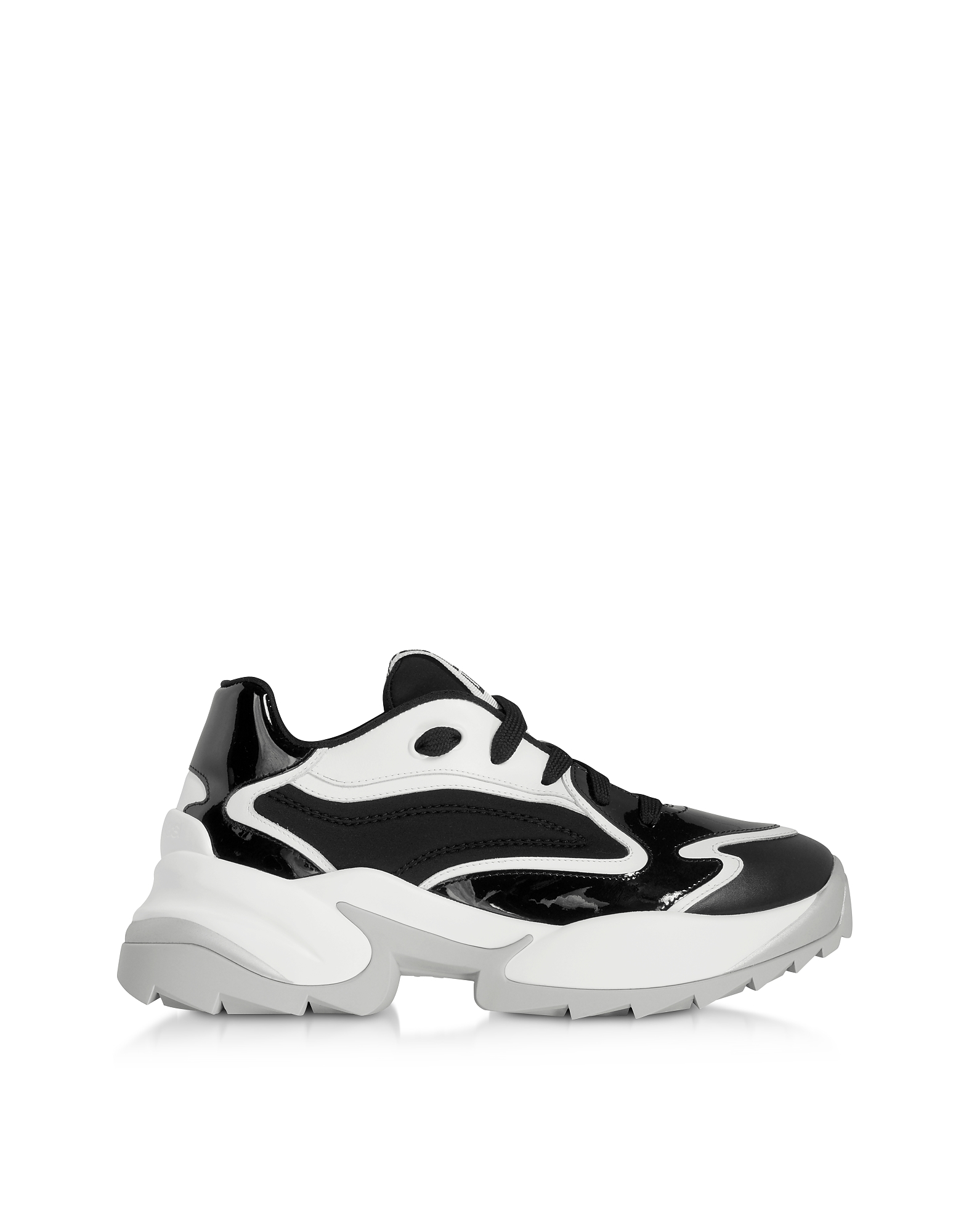 Black Combo Leather Extreme Sneakers