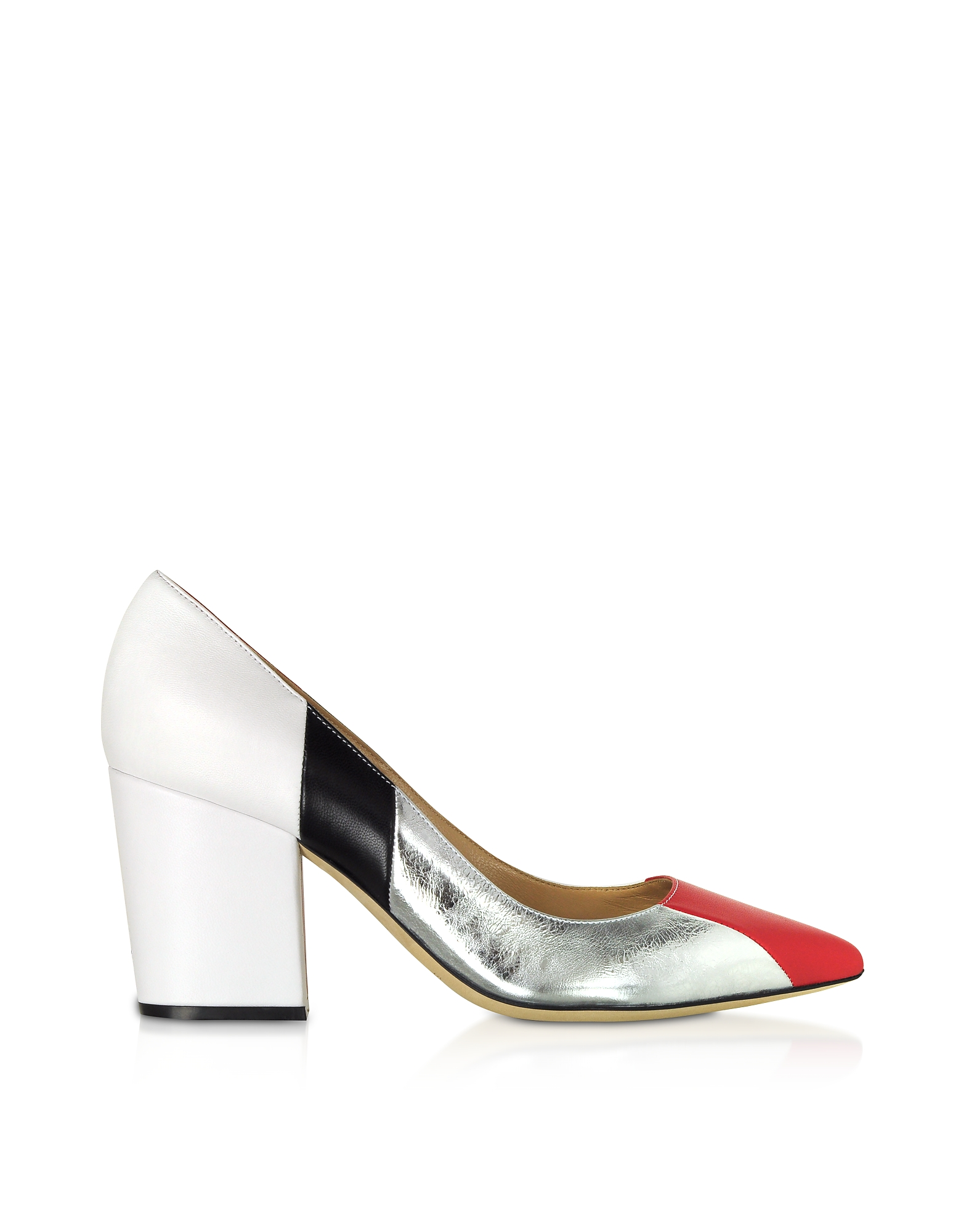 Sergio Rossi Designer Shoes, Sergio Three-Tone Crash Pumps