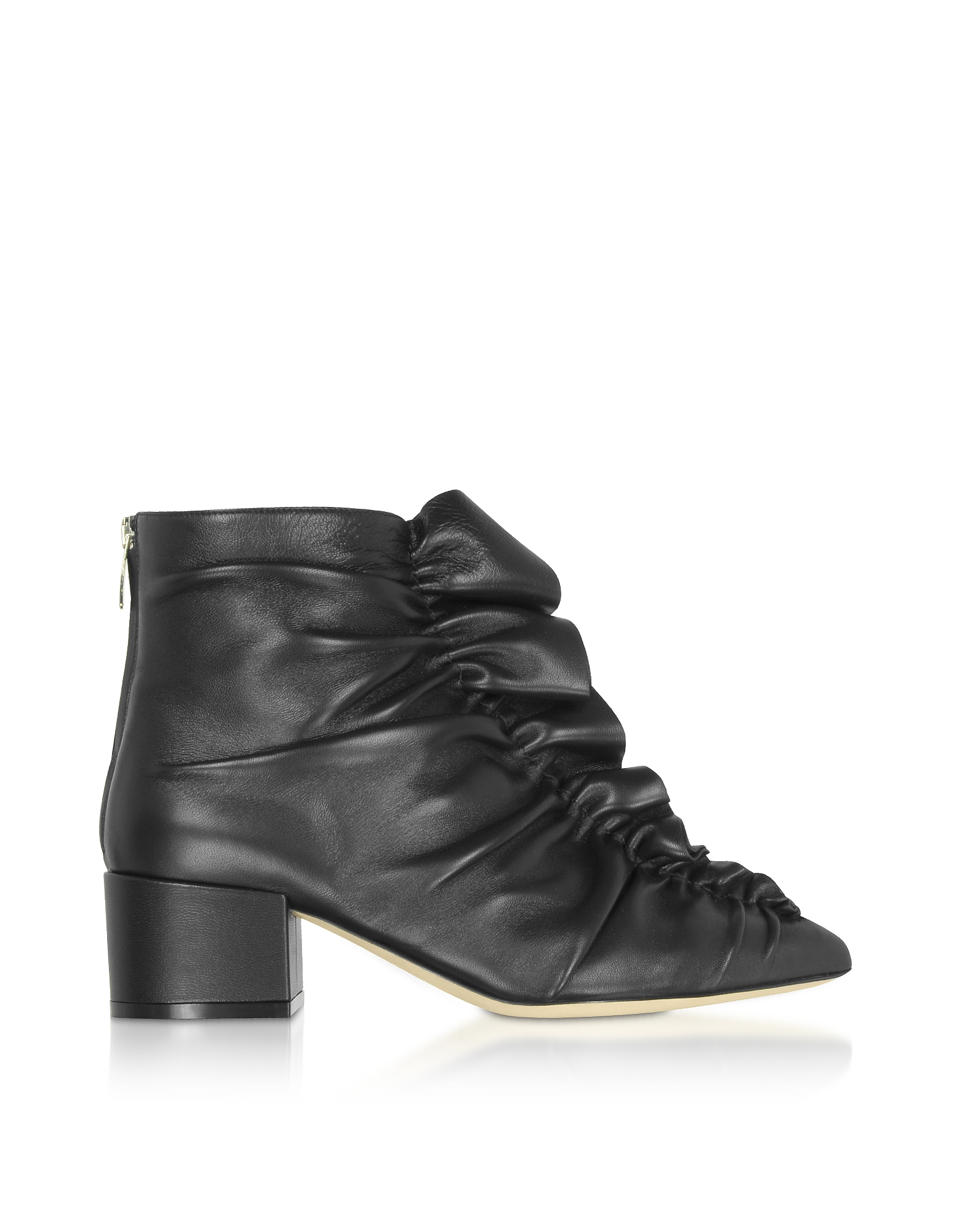 Sergio Rossi Designer Shoes, Sergio Black Light Ankle Boots