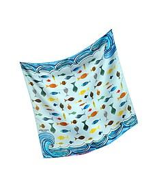 Fishes Print Silk Bandana - Mila Schon