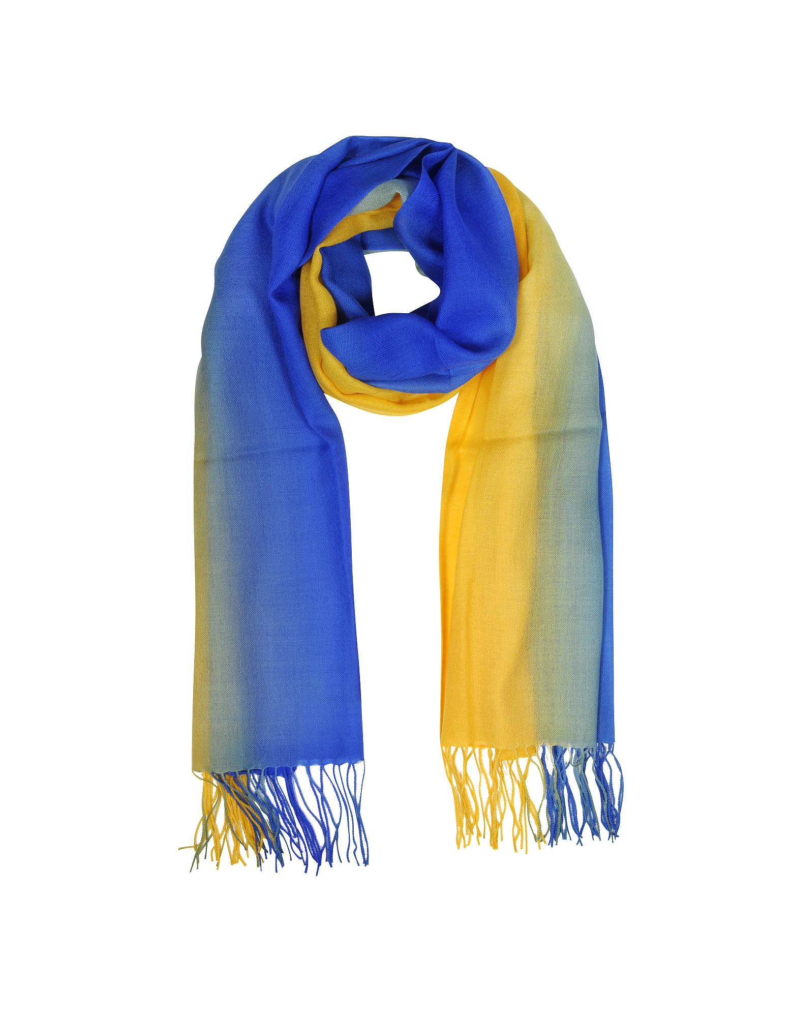Mila Schon Scarves, Cashmere and Wool Fringed Stole