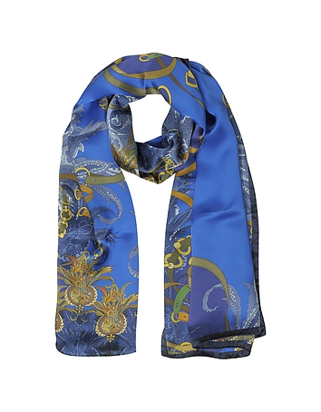 Mila Schon - Ornamental and Pattern Printed Satin Silk Stole