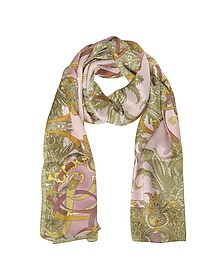Ornamental and Pattern Printed Satin Silk Stole - Mila Schon