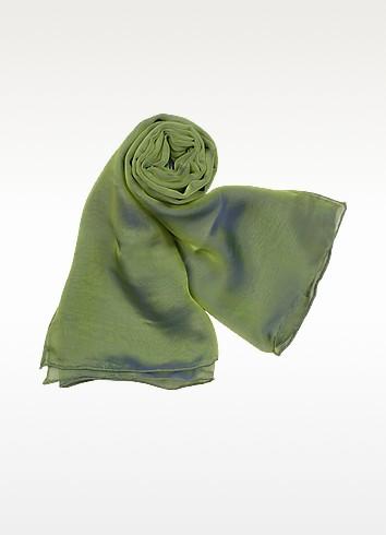 Shimmering Two-tone Chiffon Silk Stole - Mila Schon