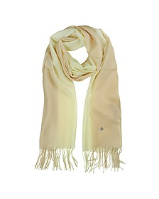 Gradient Beige/Cream Wool and Cashmere Stole - Mila Schon