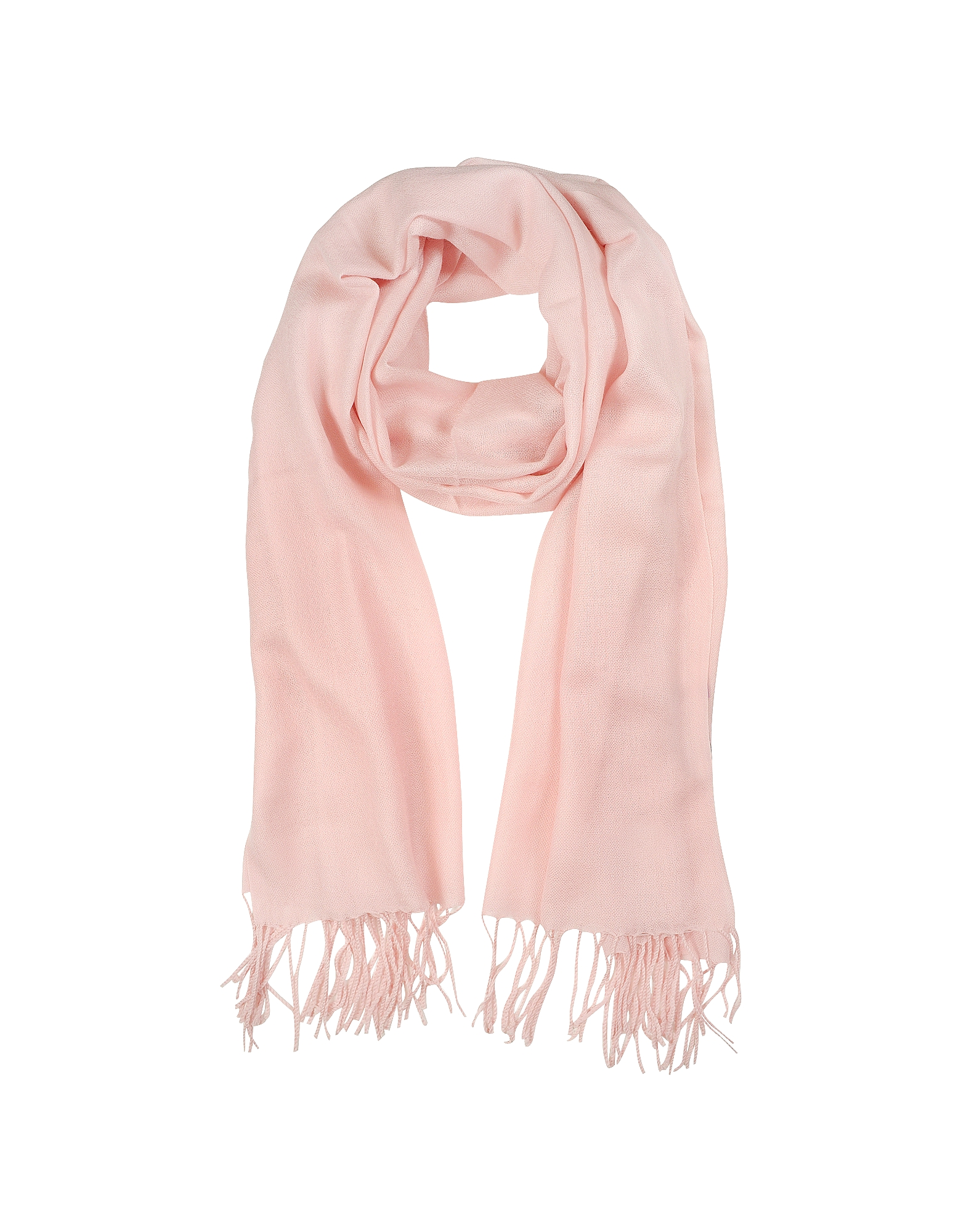 Mila Schon Long Scarves, Light Pink Wool and Cashmere Stole
