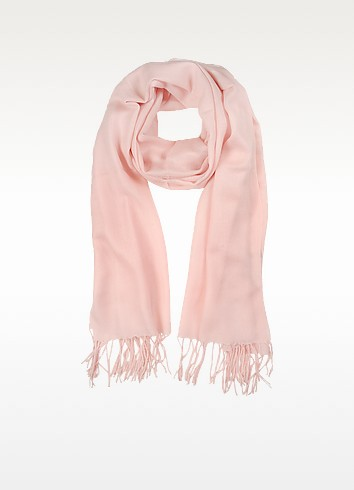 Light Pink Wool and Cashmere Stole - Mila Schon