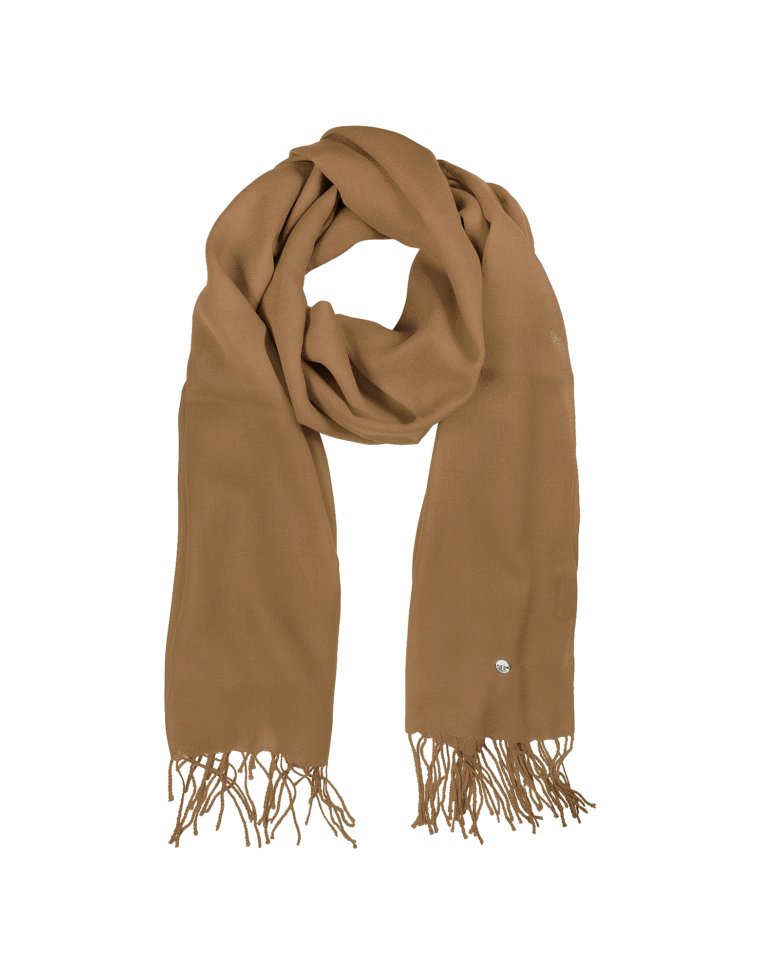 Mila Schon Long Scarves, Camel Wool and Cashmere Stole