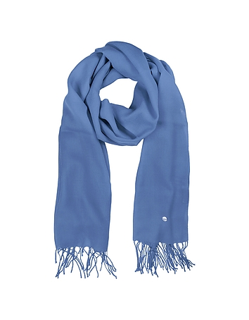 Mila Schon - Light Blue Wool and Cashmere Stole