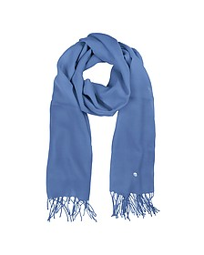 Light Blue Wool and Cashmere Stole - Mila Schon