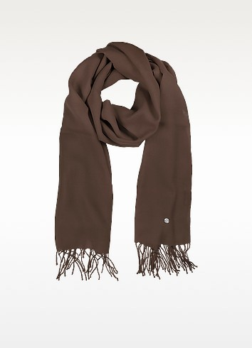 Brown Wool and Cashmere Stole - Mila Schon