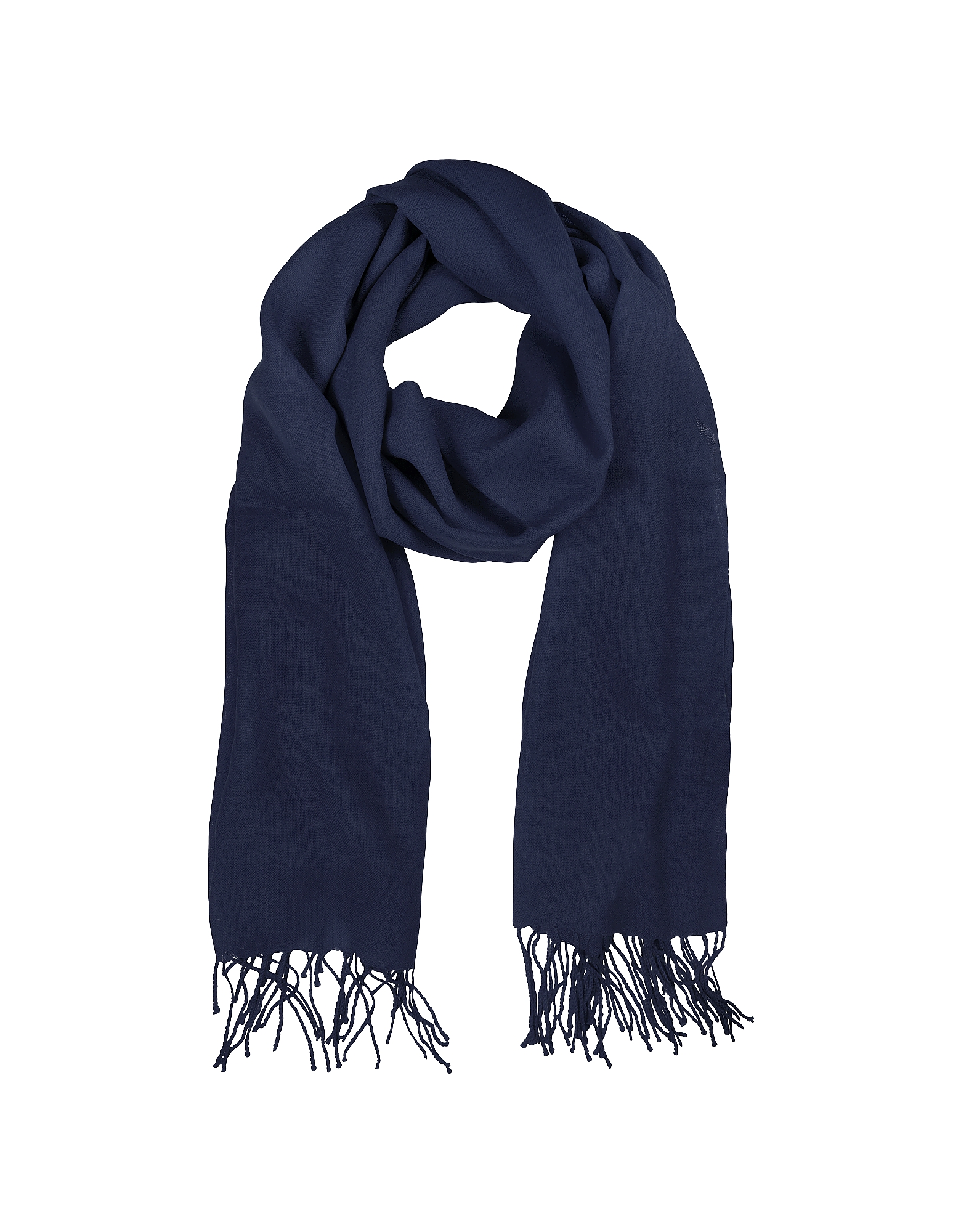 Mila Schon Scarves, Midnight Blue Wool and Cashmere Stole