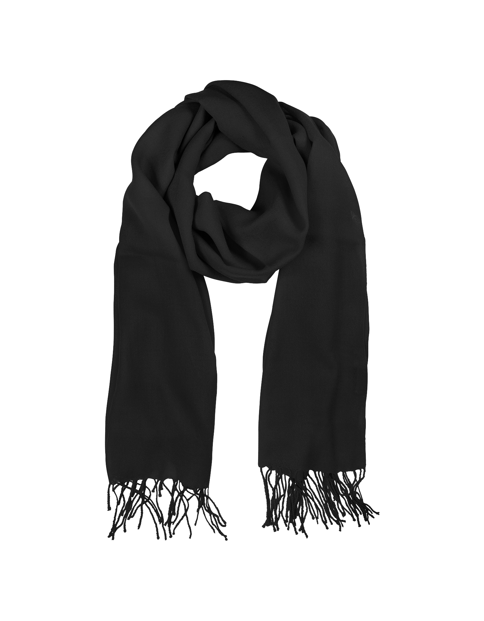 Image of Black Wool and Cashmere Stole