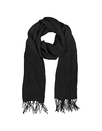 Mila Schon - Black Wool and Cashmere Stole