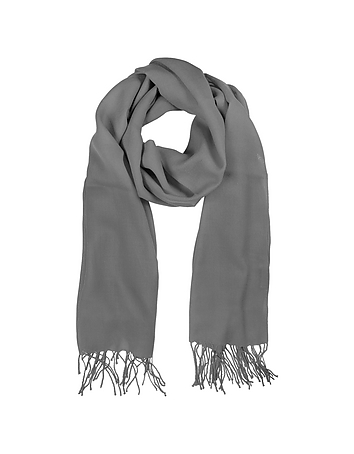 Mila Schon - Gray Wool and Cashmere Stole