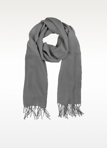 Gray Wool and Cashmere Stole - Mila Schon