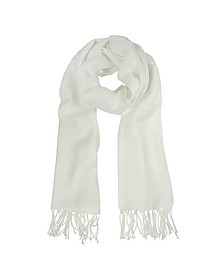 White Wool and Cashmere Stole - Mila Schon