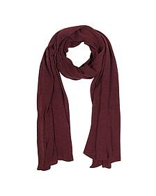 Solid Burgundy Wool Blend Stole - Mila Schon