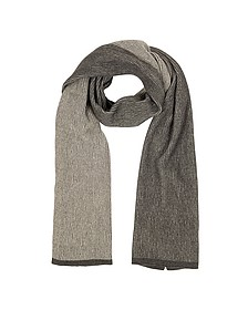 Beige/Brown Stripe Wool Blend Long Scarf - Mila Schon