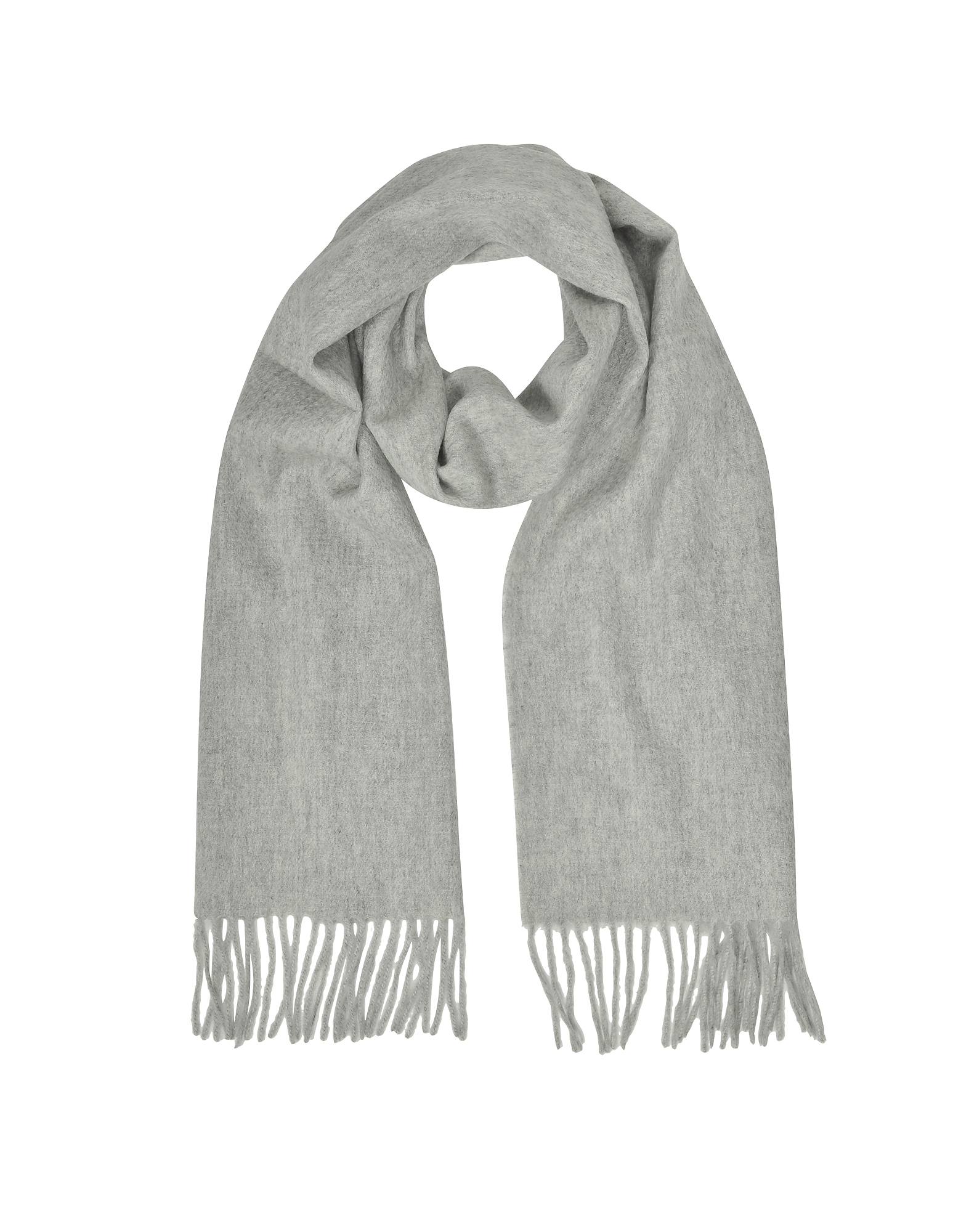 Cashmere and Wool Sand Fringed Long Scarf