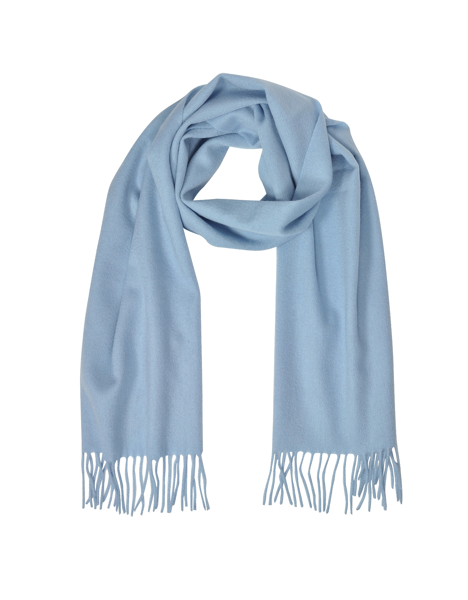 Mila Schon Long Scarves, Cashmere and Wool Fringed Long Scarf