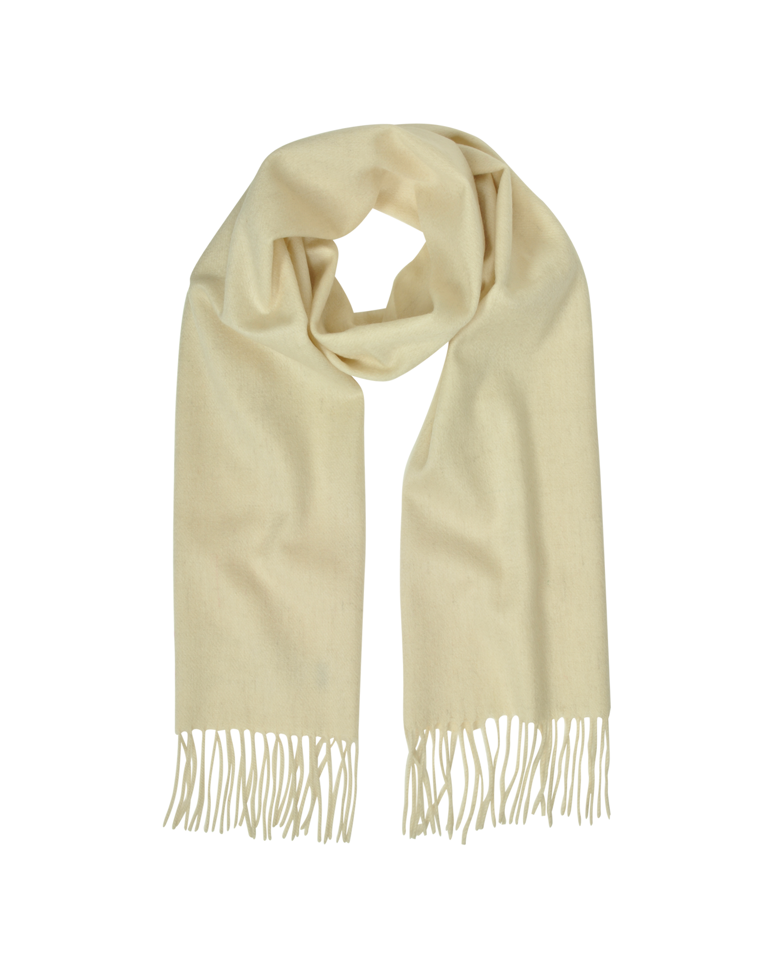 Image of Cashmere and Wool Fringed Long Scarf