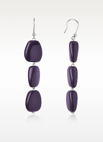 Small Smooth Bead Drop Earrings - I Bijoux di Simonetta