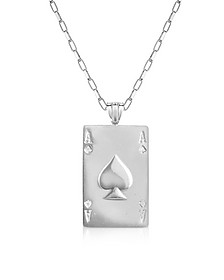 Pik-Ass Kette aus Sterlingsilber - Sho London