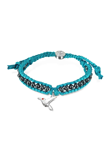 Sho London - Hummingbird Friendship Silk Bracelet