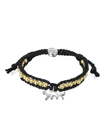 Sho London - Jaguar Friendship Silk Bracelet