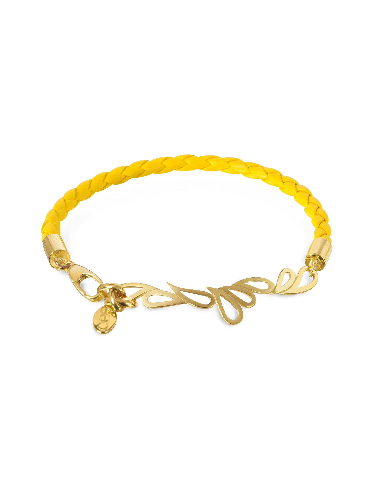 Sho London Bracelets, Mari Fiendship Leather and Silver Vermeil Bangle