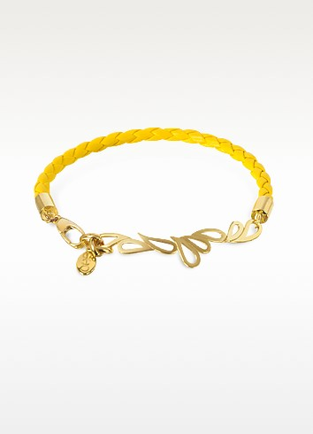 Mari Fiendship Leather and Silver Vermeil Bangle - Sho London