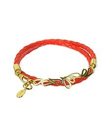 Mari Fiendship Silver Vermail & Leather Double Bracelet - Sho London