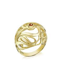 Gold Vermeil Mari Splash Boule Ring - Sho London